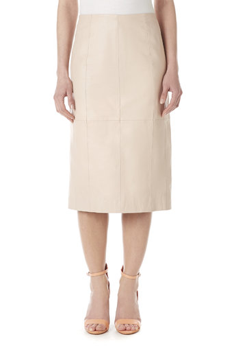 Pale Pink Leather Pencil Skirt Was £95.00 Now £90.25 click to visit Wallis