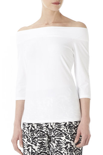 White Off the Shoulder Top Was £12.00 Now £9.00 click to visit Wallis