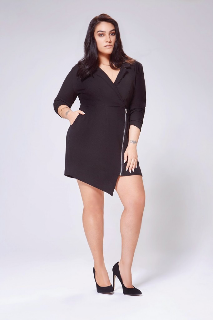 Nadia Tuxedo Dress Product code: pzz98132 £25.00 click to visit Boohoo