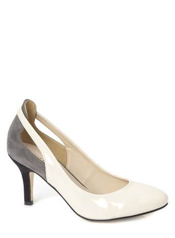 Nude Patent Cut Out Court Shoes Was £25.00 Now £17.50 click to visit BHS