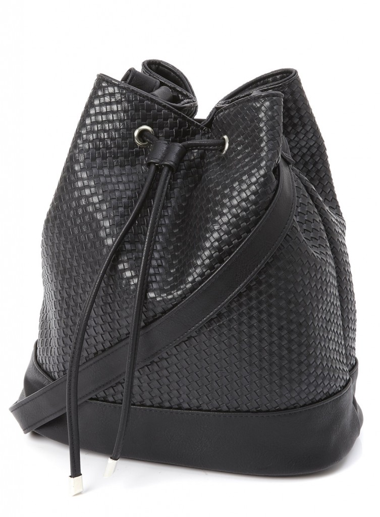 Black Weave Duffle Was £23.00 Now £18.40 click to visit BHS