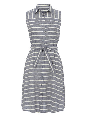 Striped Linen Blend Collared Sundress Price: £30.00 Click to visit BHS