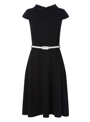 Black and White Bardot Fit and Flare Dress Price: £22.00 Click to visit BHS