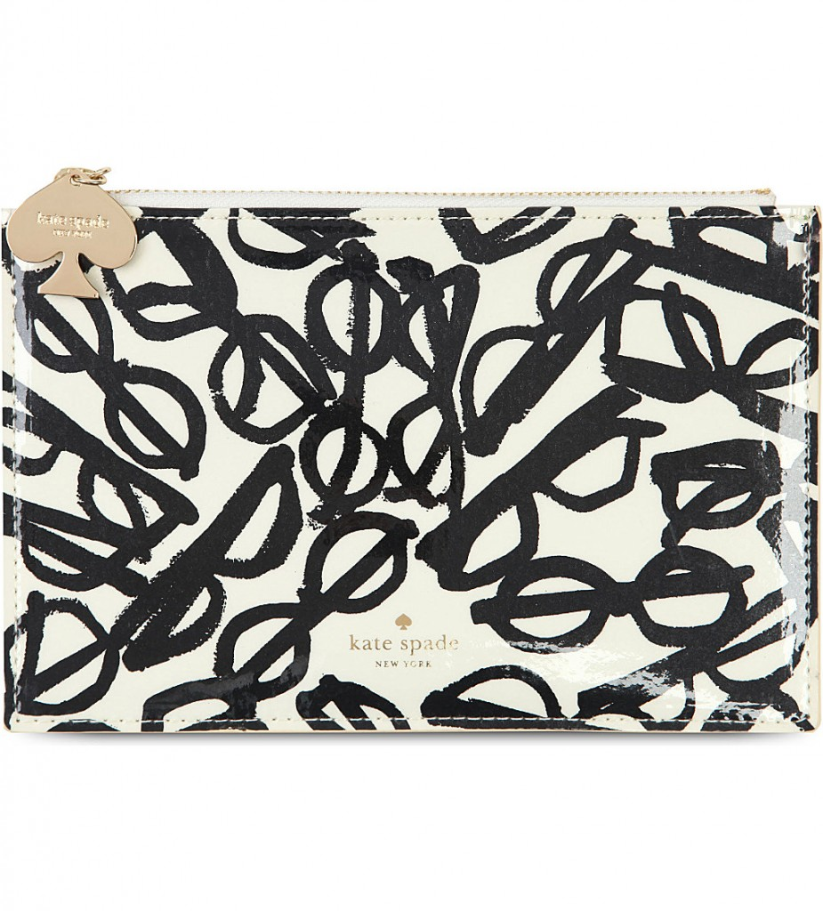 KATE SPADE Glasses print pencil pouch £29.95 click to visit Selfridges