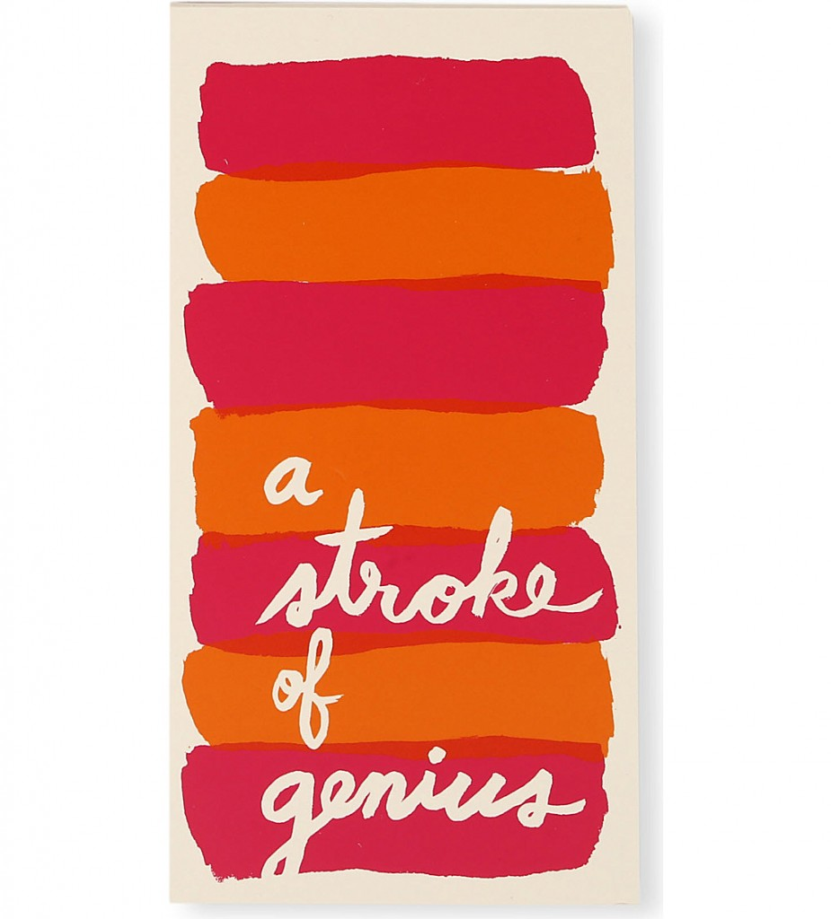 KATE SPADE A Stroke of Genius large notepad £12.95 click to visit Selfridges