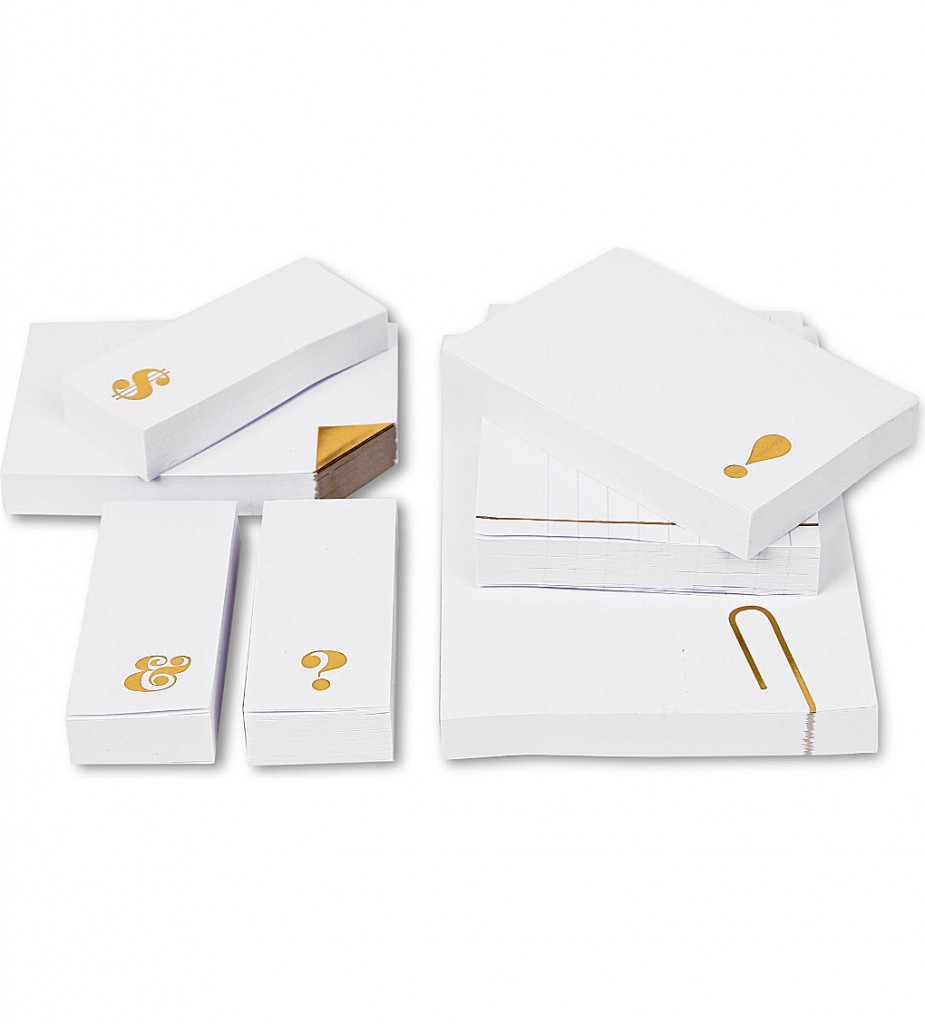 KATE SPADE Seven-piece Sticky Note set £18.95 click to visit Selfridges
