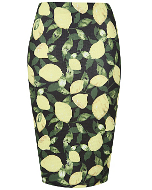 Lemon Print Midi Skirt £12.00 click to visit Asda George
