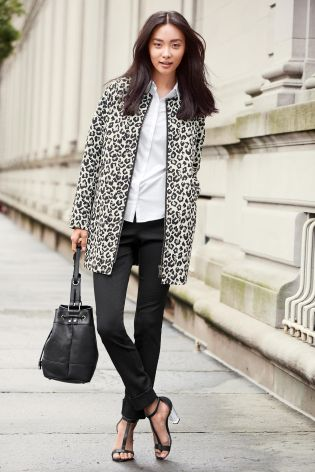 Collarless Coat £60 click to visit Next