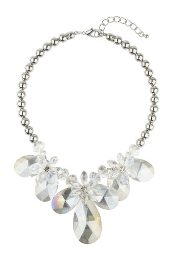 Statement Glass Flower Collar Was £30.00 Now £22.50 click to visit Wallis