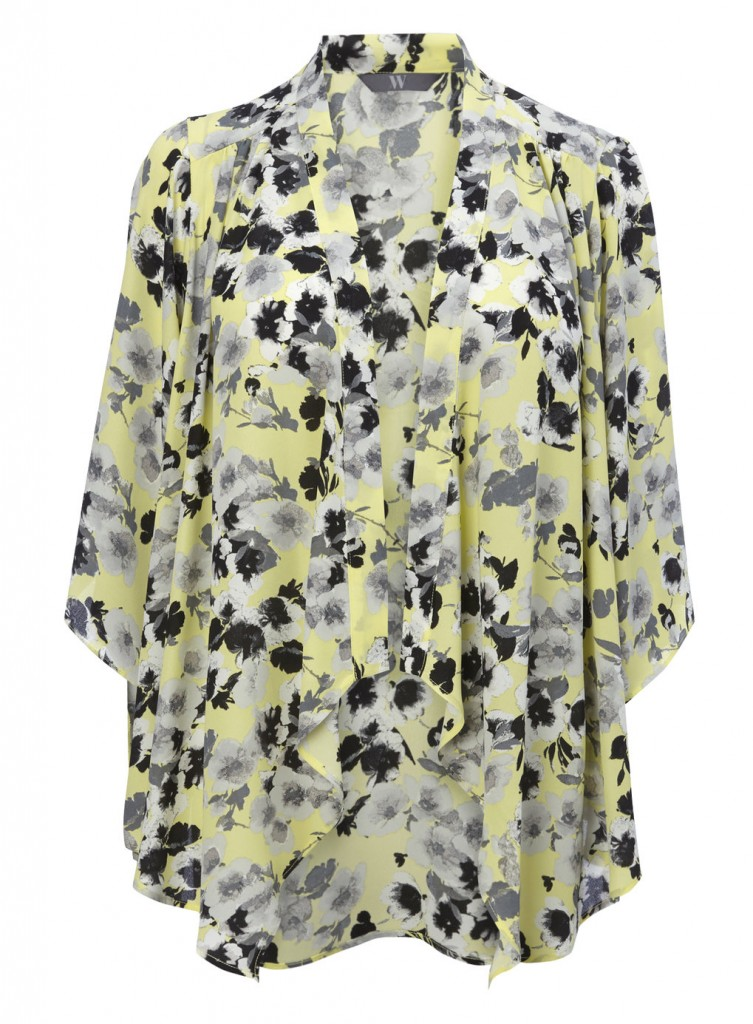Yellow Floral Kimono Price: £25.00 click to visit BHS