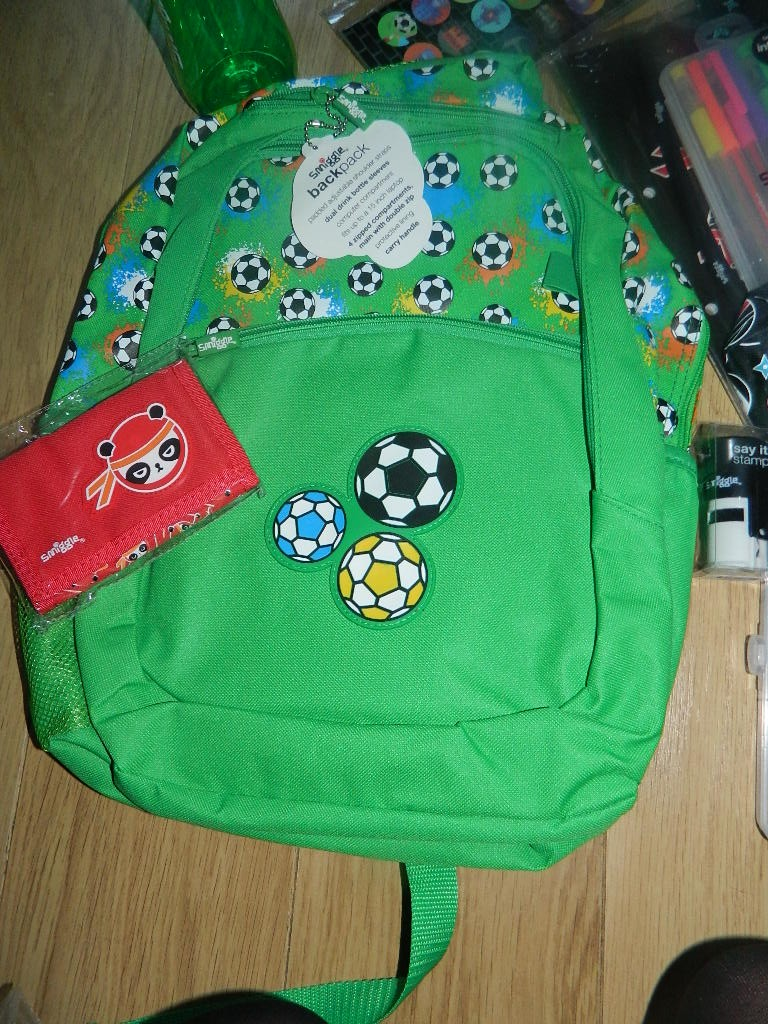 Smiggle Bakpack for the football crazy.