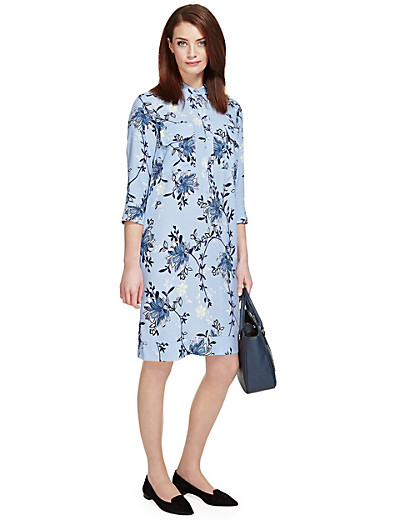 PER UNA New Twin Pockets Floral Shirt Dress £36 click to visit M&S