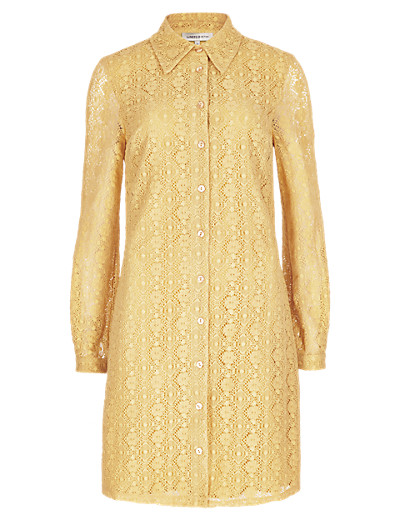 LIMITED EDITION New No Peep™ Cotton Rich Lace Shirt Dress      £45.00 click to visit M&S