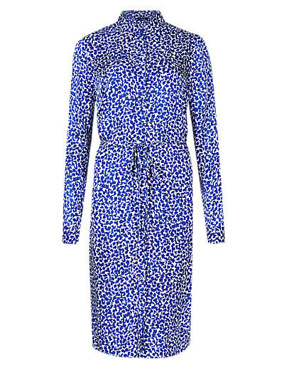 AUTOGRAPH New Abstract Print Drop Waist Shirt Dress £59 click to visit M&S