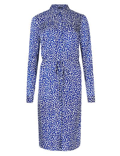AUTOGRAPH New Abstract Print Drop Waist Shirt Dress £59 click to visit M&S