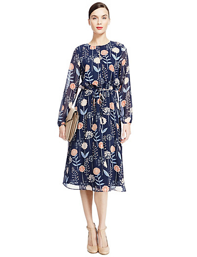 A    UTOGRAPH New PETITE Dandelion Print Fit & Flare Midi Dress £65 click to visit M&S