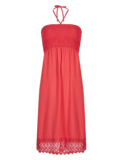 M&S COLLECTION New Crochet Hem Shift Dress  £25 click to visit M&S