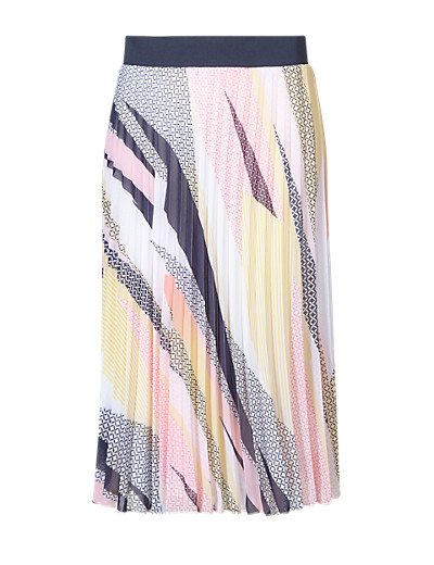 M&S COLLECTION New Miami Print Pleated Skirt £35 click to visit M&S