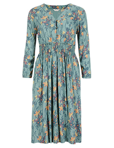 I    NDIGO COLLECTION New Vintage Floral Tunic Dress £39.50 Click to visit M&S