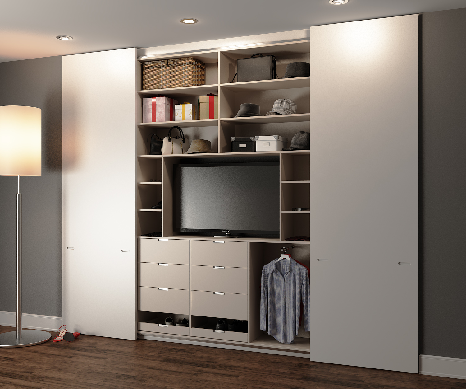Maximising your bedroom space fashionmommy 39 s blog for Built in sliding doors