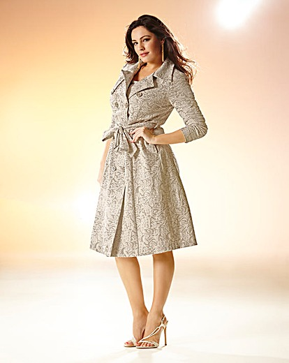 Kelly Brook Belted Lace Trench Coat Product Code: CH889JF £90.00 click to visit Simply Be
