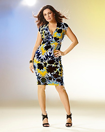 Kelly Brook Print Jersey Wrap Dress Product Code: CH907JF £45.00 click to visit Simply Be