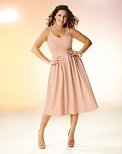 Kelly Brook Soft Pink Midi Dress Product Code: CH997JF £65.00 click to visit Simply Be