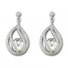 Swarovski Crystal 1062665 Megan Moonlight Pierced Earrings £89 click to visit F. Hinds