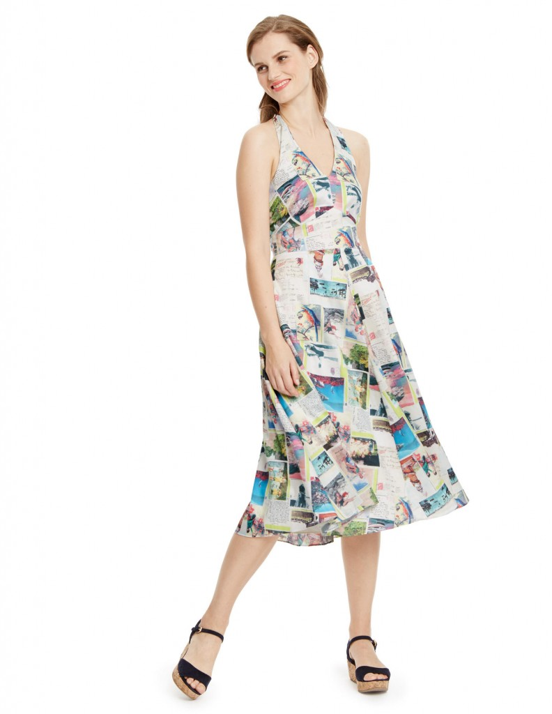 Vintage Halterneck Dress WH820 Was 89.00 Now £71.20 To £89.00 click to visit Boden