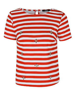 Stripe Embellished Top Was £12.00 Now £6.00 click to visit Asda George