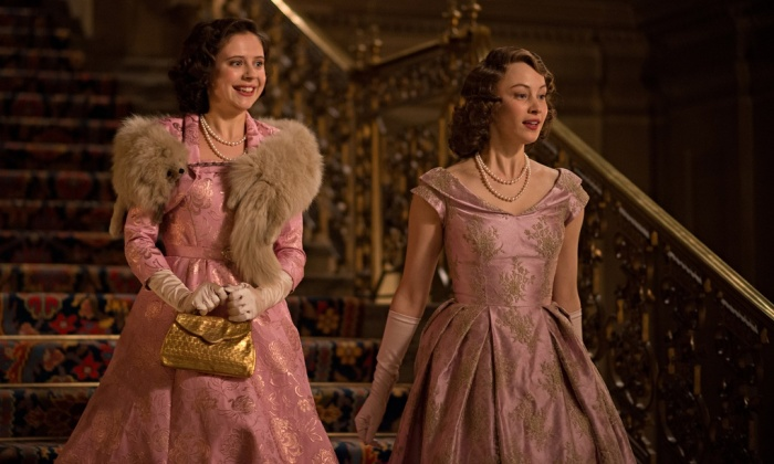 Bel Powley, left, and Sarah Gadon as Princesses Margaret and Elizabeth in 'A Royal Night Out'