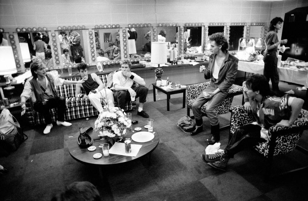 Duran Duran backstage 1984