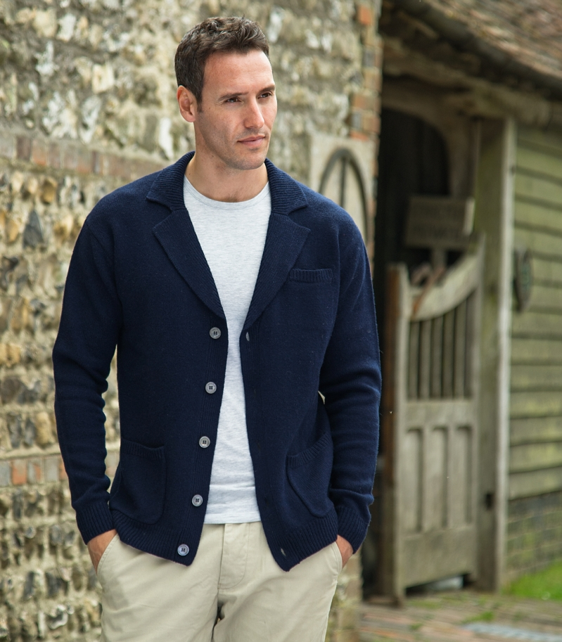 NOTCH COLLAR CARDIGAN £45 click to visit Woolovers