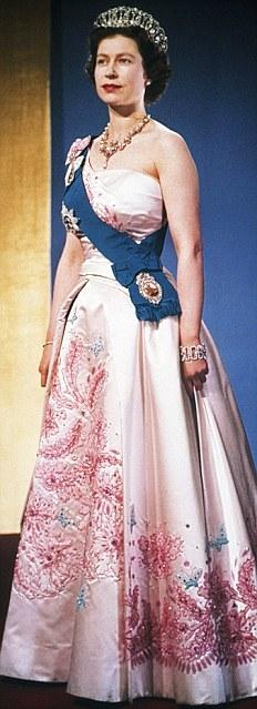 Queen Elizabeth II in Formal Clothing