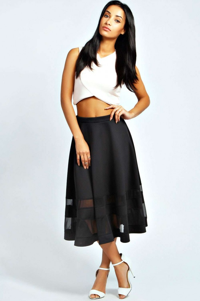 Ivy Double Mesh Midi Skirt £20 click to visit Boohoo