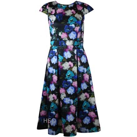 Ex Dorothy Perkins Ladies Scuba Floral Black Pink Dress £17.99 click to visit High Street Outlet