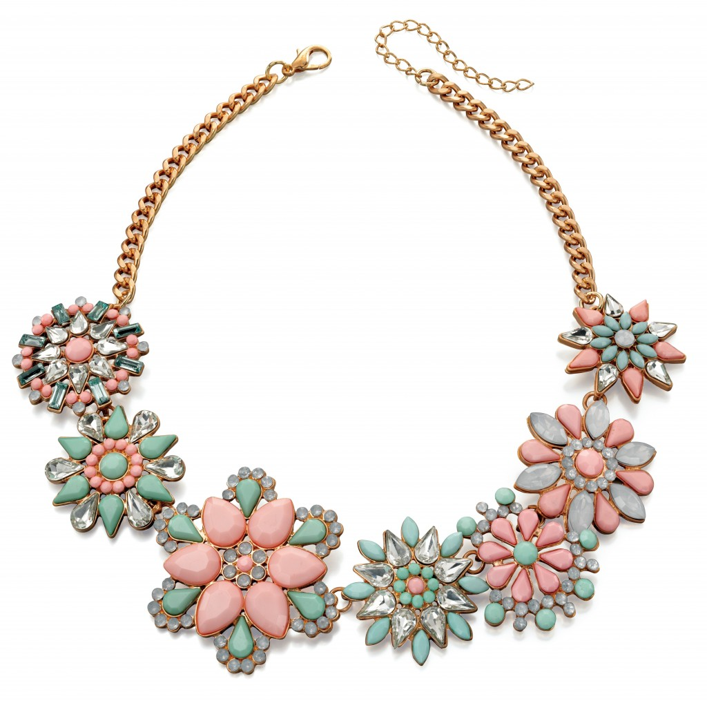 Fiorelli Pastel Statement Flower Necklace £57.60 click to visit JewelStreet