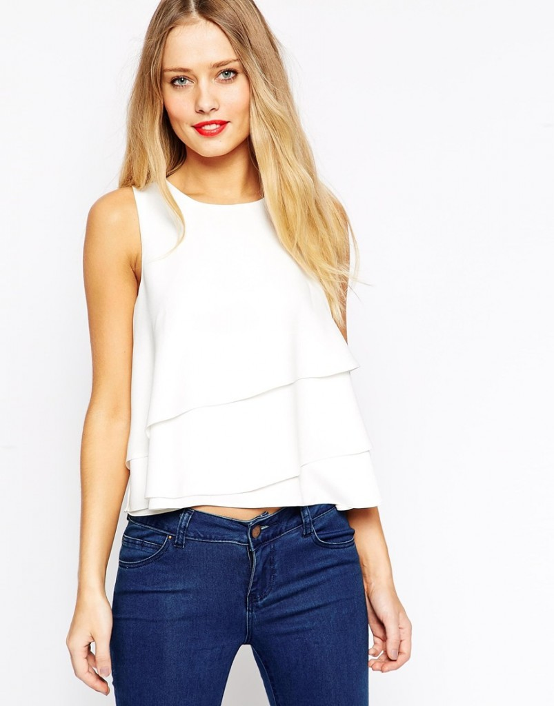 ASOS Wrap Front Shell Top £28.00 click to visit ASOS