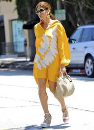 Eva Mendes wears her tunic as a dress