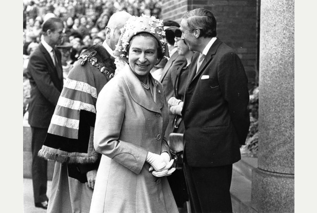 The Queen in Dudley on the day that I saw her - it was part of a Black Country visit