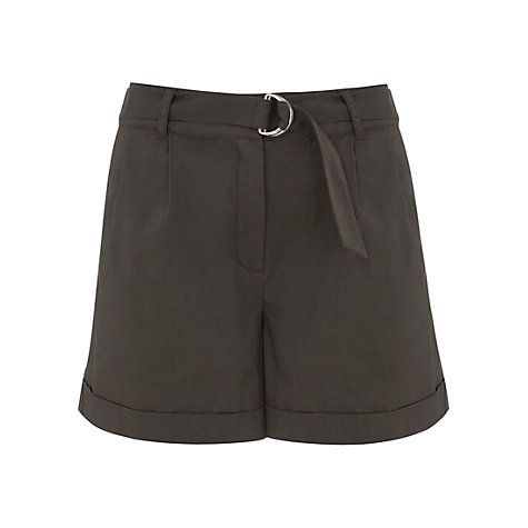 Mint Velvet Belted Shorts, Khaki £49 click to visit John Lewis