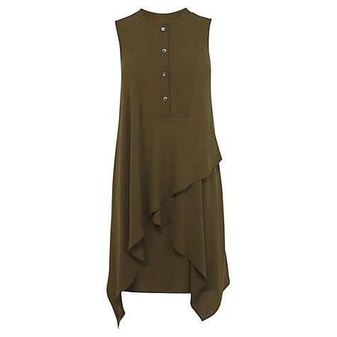 Karen Millen Soft Tunic Dress, Khaki £160 click to visit John Lewis