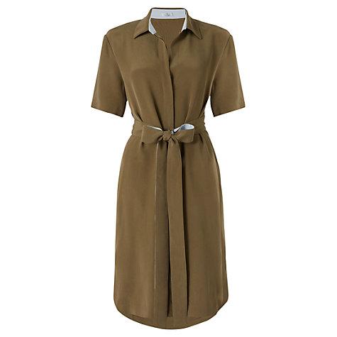 Jigsaw Heavy Silk Shirt Dress, Khaki £198 click to visit John Lewis