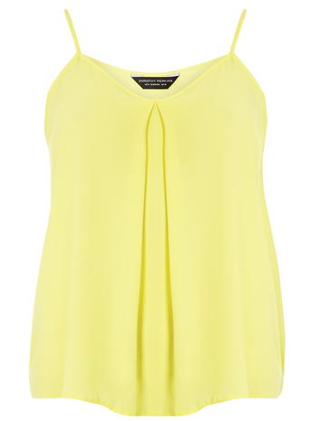 Pale Yellow Pleated Cami Top     Was £12.00     Now £9.60 click to visit Dorothy Perkins