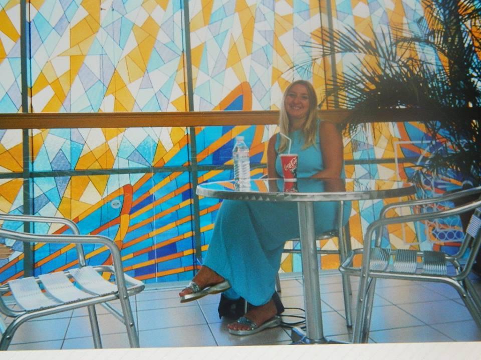 A drink break at Wafi City in Dubai