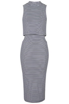 Striped Cut-Out Midi Dress     Price: £35.00 click to visit Topshop