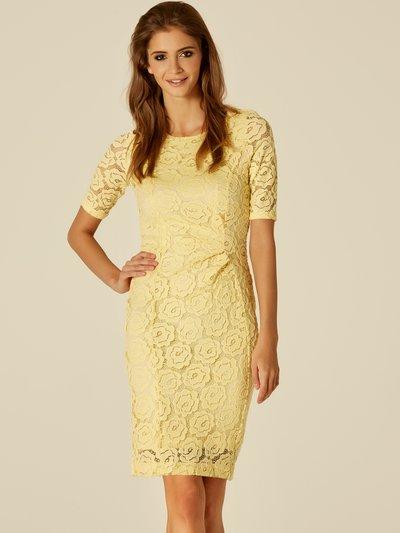 Lace shift dress Details http://www.mandco.com/lace-shift-dress-lemon/122291000630008.html Product Number: 122291000630008 Colour: LEMON Online Exclusive £49.00 click to visit M&Co