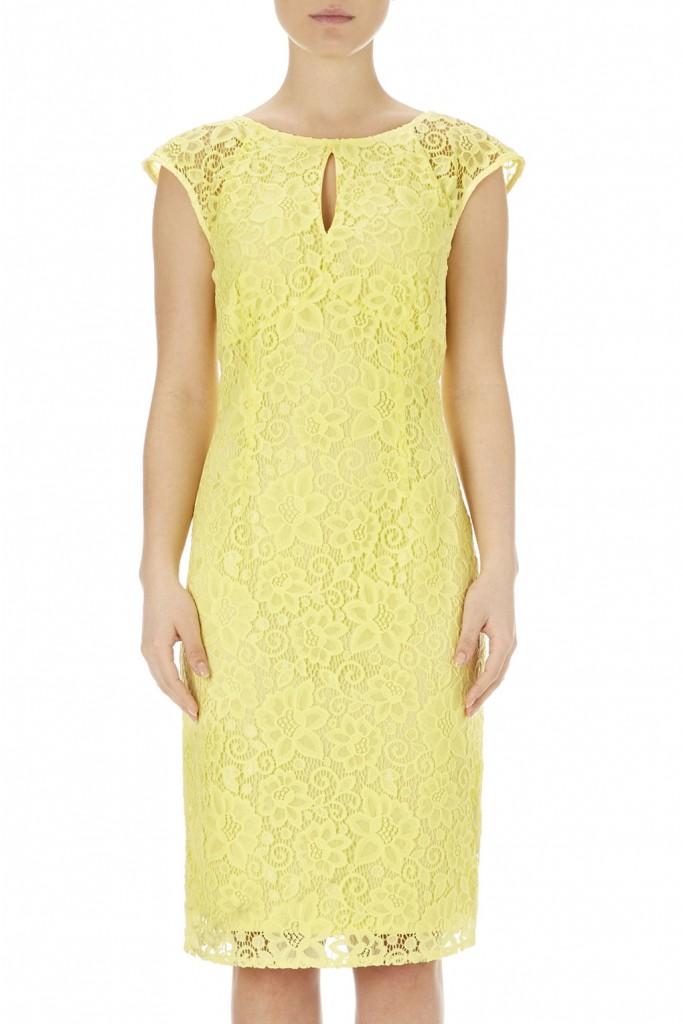 Lemon Keyhole Lace Dress     Was £50.00 Now £40.00 click to visit Wallis
