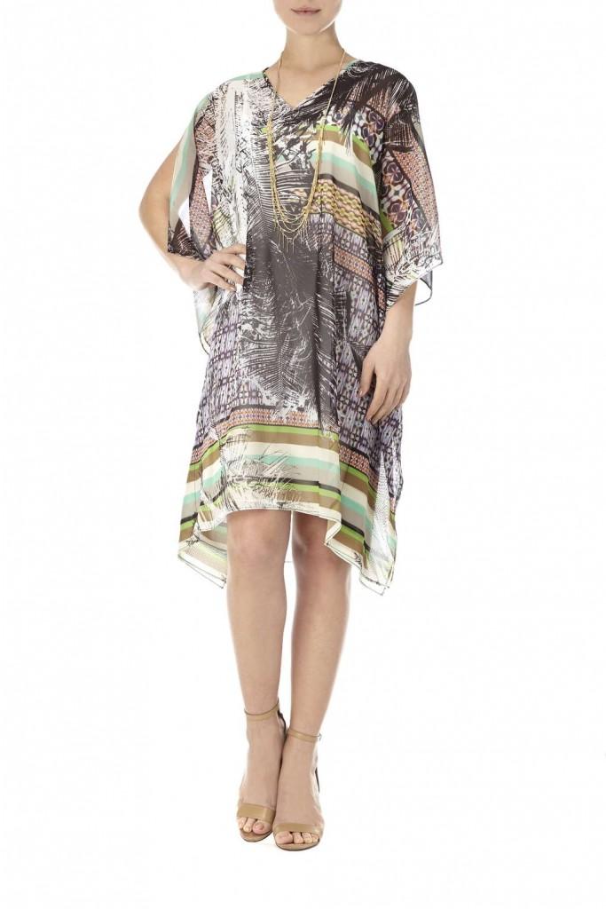 Fern Feather Kaftan Dress Price: £70.00 click to visit Wallis
