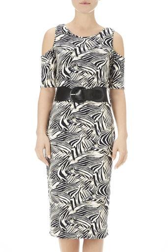 Stone Cold Shoulder Dress Price: £38.00 click to visit Wallis